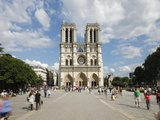 Tourists Outside Notre Dame Cathedral, Paris, France, Europe Photographic Print by Gavin Hellier