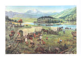 Wagon's West Collectable Print by David K. Stone