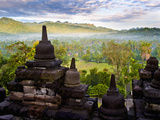 Stone Stupa, Borobudur (Borobodur), UNESCO World Heritage Site, Yogyakarta, Java, Indonesia Photographic Print by Matthew Williams-Ellis