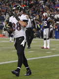 NFL Playoffs 2013: Patriots vs Ravens - Dennis Pitta Photographic Print by Stephan Savoia