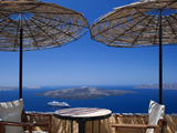 Terrace Overlooking the Caldera, Santorini, Cyclades, Greek Islands, Greece, Europe Photographic Print by Sakis Papadopoulos