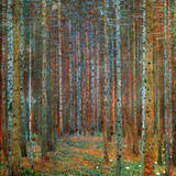 Tannenwald - Nåleskov, 1902 Plakater af Gustav Klimt