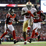 NFL Playoffs 2013: Falcons vs 49ers - Frank Gore Photographic Print by David Goldman