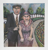 Jack & Mami on the Road Collectable Print by Susan Gardner