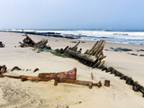 Shipwreck Remains, Skeleton Coast, Namib Desert, Namibia, Africa Photographic Print by Nico Tondini
