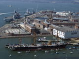 View of Historic Docks from Spinnaker Tower, Portsmouth, Hampshire, England, United Kingdom, Europe Photographic Print by Ethel Davies