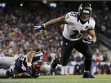NFL Playoffs 2013: Patriots vs Ravens - Ray Rice Photographic Print by Matt Slocum