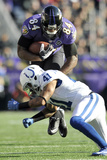 NFL Playoffs 2013: Colts vs Ravens - Ed Dickson Photographic Print by Gail Burton