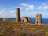 Ruins of Wheal Coates Tin Mine Engine House, Near St Agnes, Cornwall, England Photographie par Stuart Black