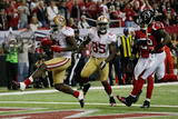 NFL Playoffs 2013: Falcons vs 49ers - Frank Gore Prints by Dave Martin