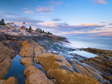 Pemaquid Point Lighthouse, Pemaquid Peninsula, Maine, New England, USA, North America Photographic Print by Alan Copson
