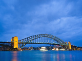 Sydney Harbour Bridge at Night, Sydney, New South Wales, Australia, Pacific Photographic Print by Matthew Williams-Ellis