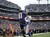 NFL Playoffs 2013: Colts vs Ravens - Anquan Boldin Photographic Print by Nick Wass