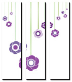 Purple Hanging Flowers Prints by Avalisa