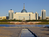 Ak Orda Presidential Palace of President Nursultan Nazarbayev in Ishim River, Astana, Kazakhstan Photographic Print by Jane Sweeney