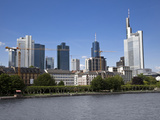 Frankfurt Financial District Skyline over the River Main, Frankfurt Am Main, Hesse, Germany, Europe Photographic Print by Ian Egner