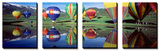 Reflection of Hot Air Balloons on Water, Colorado, USA Affiche par  Panoramic Images
