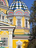Zenkov Cathedral, Built Entirely of Wood, Panfilov Park, Almaty, Kazakhstan, Central Asia, Asia Photographic Print by Jane Sweeney