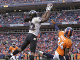 NFL Playoffs 2013: Ravens vs Broncos - Torrey Smith Photographic Print by Charlie Riedel