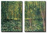 Skog och undervegetation, ca 1887 Planscher av Vincent van Gogh