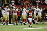 NFL Playoffs 2013: Falcons vs 49ers - 49ers Celebrate Photographic Print by John Bazemore
