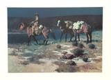 Crossing the Verde Samlertryk af James Reynolds