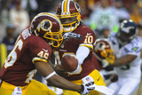 NFL Playoffs 2013: Seahawks vs Redskins - Robert Griffin III and Alfred Morris Photographic Print by Richard Lipski