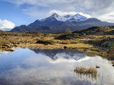 View of the Black Cuillin Mountain Sgurr Nan Gillean, Glen Sligachan, Isle of Skye, Scotland, UK Photographic Print by Chris Hepburn