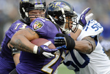 NFL Playoffs 2013: Colts vs Ravens - Ray Rice Photographic Print by Nick Wass