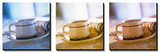 Coffee Cup Triptych Poster