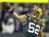 NFL Playoffs 2013: Vikings vs Packers - Clay Matthews Photographic Print by Mike Roemer