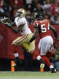 NFL Playoffs 2013: Falcons vs 49ers - Vernon Davis Fotografisk trykk av David Goldman