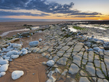 Sunset over Rocks of Dunraven Bay, Southerndown, Wales Photographic Print by Chris Hepburn