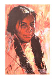 Young Girl With Otter Tail Braids Collectable Print by Shannon Stirnweis