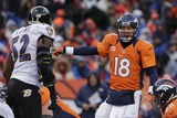 NFL Playoffs 2013: Ravens vs Broncos - Peyton Manning Photographic Print by Charlie Riedel
