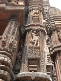 Carving of Woman on Vimana of 11th Century Rajarani Temple, Bhubaneshwar, India Photographic Print by Annie Owen