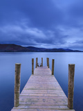 Dawn at Ashness Jetty, Barrow Bay, Derwent Water, Lake District Nat'l Park, Cumbria, England Photographic Print by Chris Hepburn