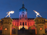 Charlottenburg Palace (Schloss Charlottenburg) at Night, Berlin, Germany, Europe Photographic Print by Stuart Black