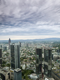 Looking North from Maintower Observation Deck over City Skyline, Frankfurt Am Main, Hesse, Germany Photographic Print by Ian Egner