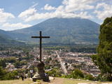 View of Antigua from Cross on the Hill Park, UNESCO World Heritage Site, Guatemala, Central America Photographic Print by Michael DeFreitas