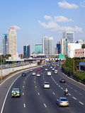 Modern Road System Leading to the Commercial Centre, Tel Aviv, Israel, Middle East Photographic Print by Gavin Hellier