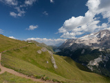 Hiking on High Route 2 in Dolomites, Bolzano Province, Trentino-Alto Adige/South Tyrol, Italy Photographic Print by Carlo Morucchio