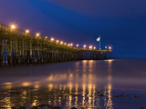 Ventura Pier at Night, Ventura, California, United States of America, North America Photographic Print by Antonio Busiello