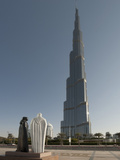 Khalifa, the Tallest Building in the World, Dubai, United Arab Emirates, Middle East Photographic Print by Antonio Busiello