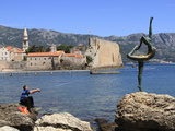 Fisherman and Dancer Statue, Budva Old Town, Montenegro, Europe Photographic Print by Rolf Richardson