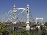 Albert Bridge over River Thames, Battersea, London, England, United Kingdom, Europe Photographic Print by Rolf Richardson