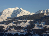 Megeve Ski Slopes, Mont-Blanc Mountain Range, Megeve, Haute-Savoie, French Alps, France, Europe Photographic Print by  Godong
