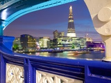 The Shard from Tower Bridge at Dusk, London, England, United Kingdom, Europe Photographic Print by Frank Fell