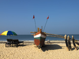 Traditional Fishing Boat on Beach, Benaulim, Goa, India, Asia Photographic Print by Stuart Black