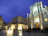 Duomo Square at Dusk, Ortygia, Siracusa, Sicily, Italy, Europe Photographic Print by Vincenzo Lombardo